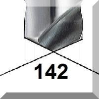 142° centravimo gražtai