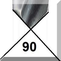 90° centravimo gražtai