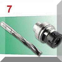 7. CNC Staklių laikikliai ir frezos